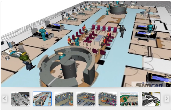 Healthcare Simulation Model with Dynamic Simulation