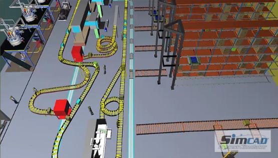 warehouse conveyor simulation model